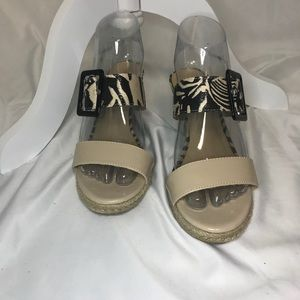 CL Chinese Laundry Tayler Wedge Sandal zebra tan